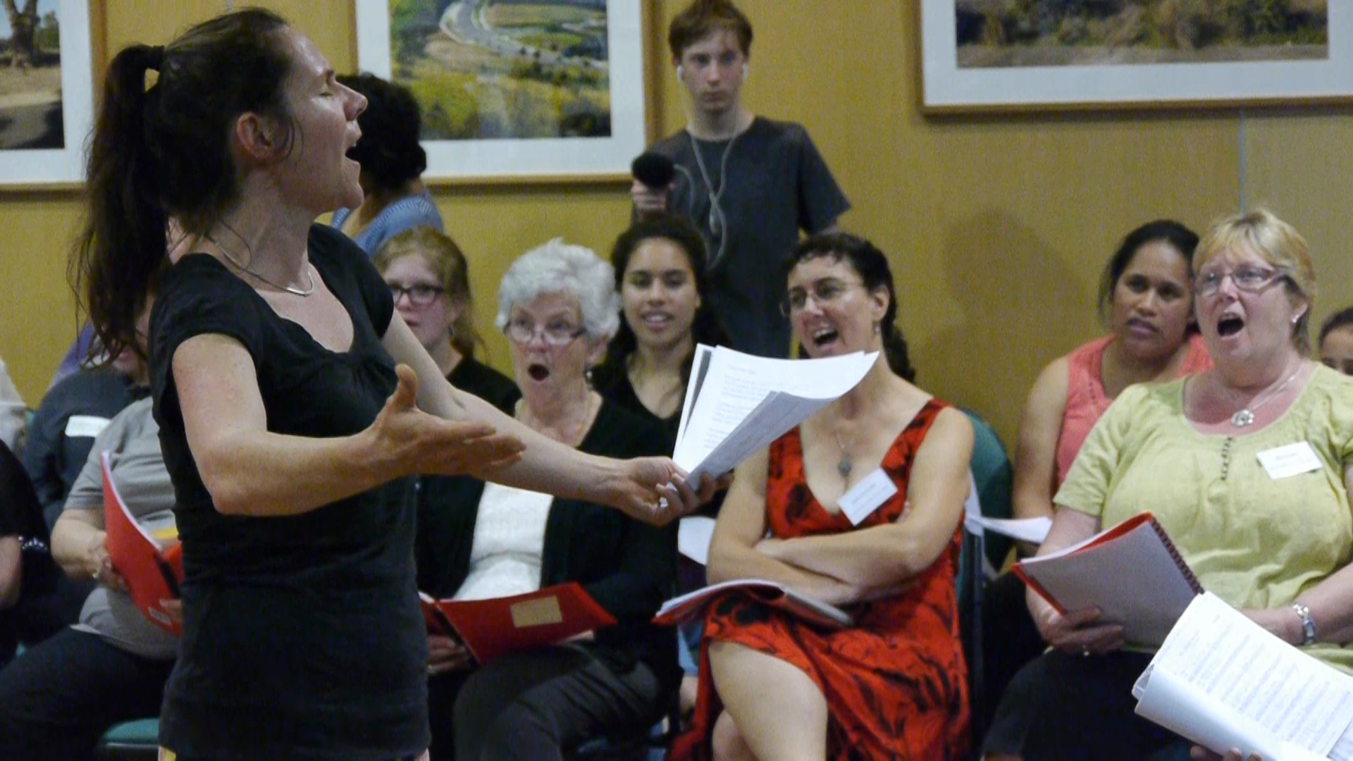 A scene from Andrew Garton's documentary film 'This Choir Sings Carols'.